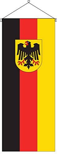 flaggenmeer® Flaggenbanner Deutschland B&esdienstflagge 160 g/m² ca. 300 x 120 cm mit Bannereinrichtung