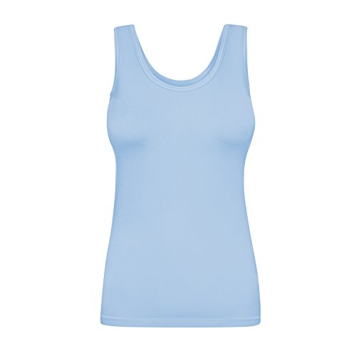 Assoluta Damen Tank Top, Größe S, blau Serenity