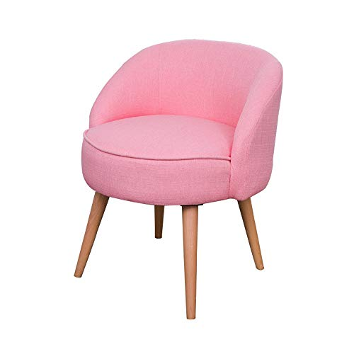 Best Review Of Jdeepued Vanity Stool Home Modern Accent Chair with Solid Wooden Legs and Upholstered...