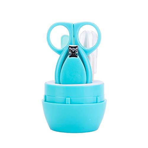 YaptheS bebé manicura kit contiene Cortauñas tijera de uñas lima redonda Pinzas de seguridad infantil Cuidado de las uñas Cuidado Conjunto verde para su hijo