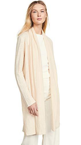Theory Women's Linen Shawl Cardigan, Light Linen, Off White, Small