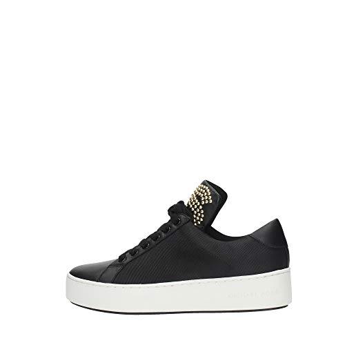 Michael Kors Sneakers Nera Mindy in Pelle con Borchiette Applicate - 6.0