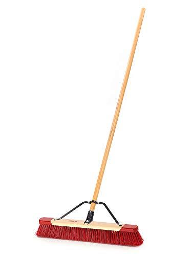 Harper 7324P1 Premium Indoor/Outdoor Wet/Dry All-Purpose Hardwood 24 in. Push Broom