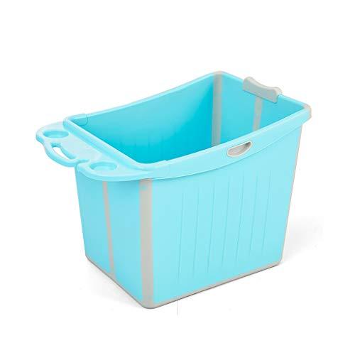 NXYJD Bebé Plegable de hidromasaje, baño Grande de niños Cubo, Cubo de natación del bebé Puede Sentarse Salud Ambiental (Color : Blue)