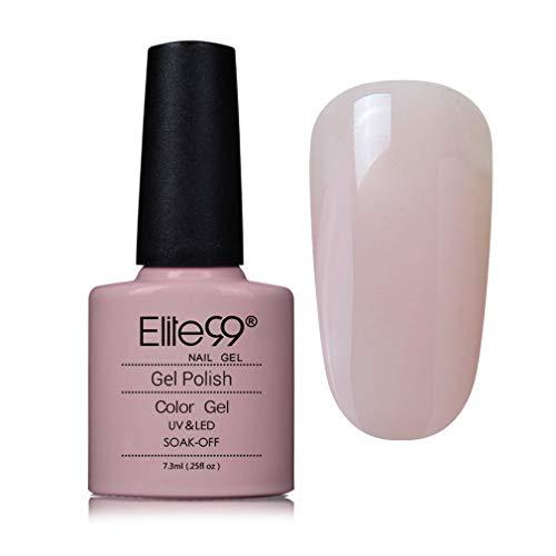 Elite99 UV Gel auflösbarer Nagellack, hell rosa Farbe Nagelgel Farbgel Farblack LED Soak Off Gel-Lack -S90544