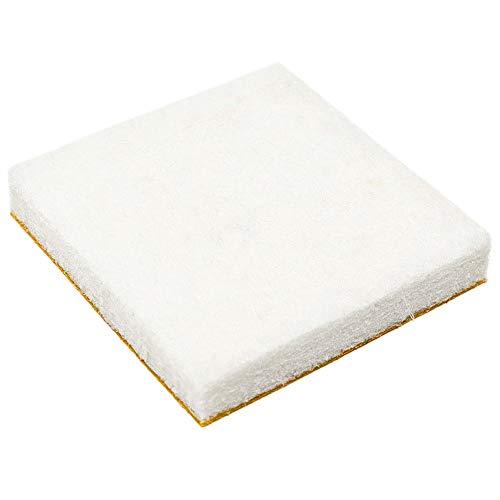 4 x almohadillas de fieltro | 30x30 mm | blanco | quadrati | Patas de muebles adhesiva de la máxima calidad (5.5 mm) de Adsamm®