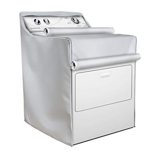 Cubierta para lavadora/secadora, apta para máquina de carga superior y de carga frontal, resistente al polvo y al agua, protección solar moderada, apta para la mayoría de...