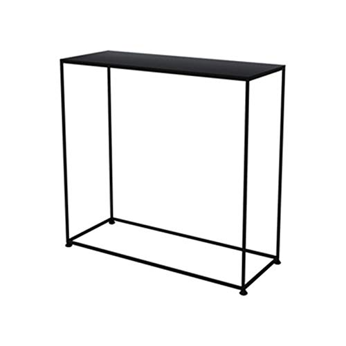 C-S-Qing-Desk Wrought Iron Console Table, Multifunction Bar Table Home Apartment Kitchen Cafe Breakfast Table Save Space(Size:60 * 25 * 60CM,Color:C)