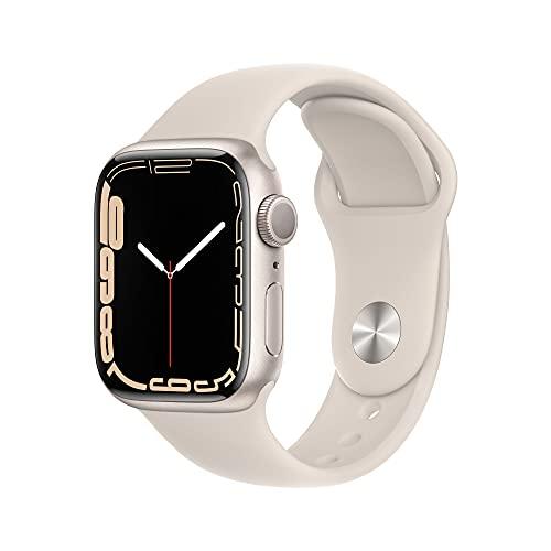 AppleWatch Series7 (GPS) - Caja de Aluminio en Blanco Estrella de 41mm - Correa Deportiva Blanco Estrella - Talla única