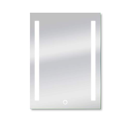 Dyconn Faucet M09AT2434W Catella Horizontal/Vertical Wall Mounted Backlit Vanity Bathroom LED Mirror with Touch On/Off Dimmer & Anti-Fog Function, 24