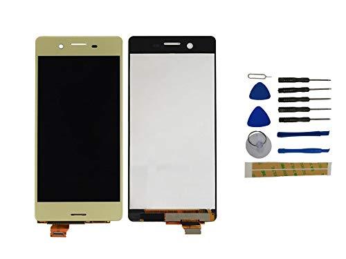 Yixi Pantalla para Sony Xperia X F5121 F5122 Pantall LCD Pantalla Táctil Golden Repuesto de Pantalla Recambio (sin Marco)
