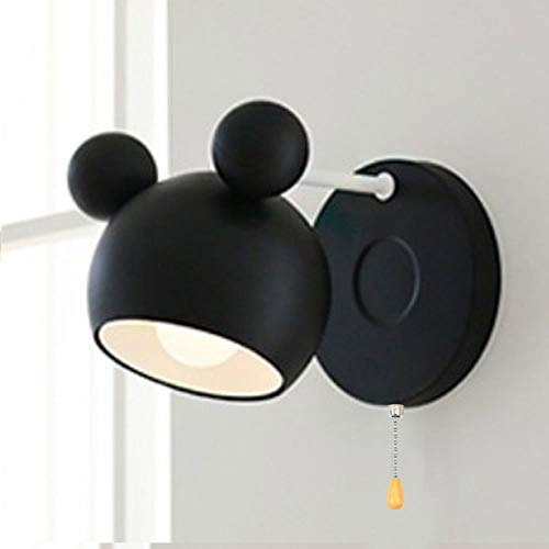 Lámpara de pared regulable Lanternt Linda lámpara de habitación para niños Pantalla de lámpara ajustable Lámpara de noche Lámpara de pared de metal para habitación de princesa de moda Apliques de luz