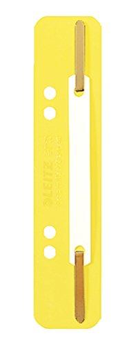 3710 EinhängeHeftstreifen PP kurz gelb 25 Stück 3.5x15.8cm