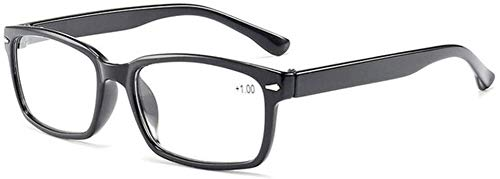 ZZAI Gafas de Lectura Ultra LIGHTES Hombres Mujeres Eyeglasses Unisex Presbyopia Eyewear con 1.0 1.5 2.0 2.5 3.0 3.5 4.0 dioptrías (Color : Negro, Size : +350)