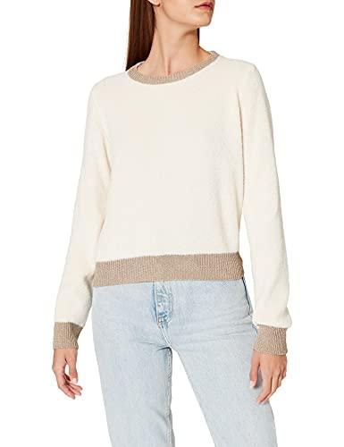 Pinko GIAVELLOTTO Suéter, C21_Beige Betulla, L para Mujer
