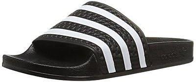 adidas Kids' Adilette J Sandal blk/wht BA7130