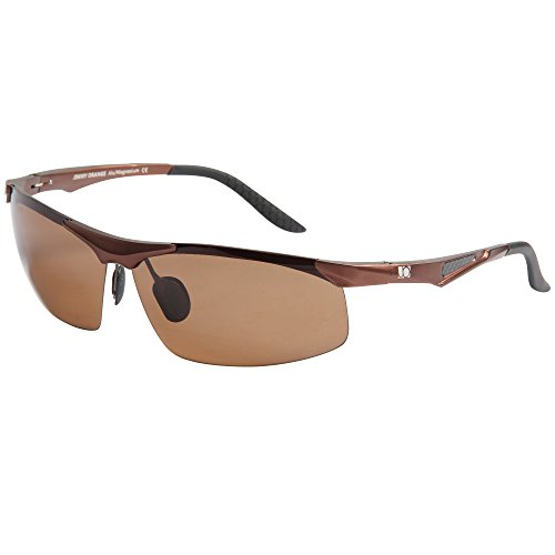 Jimmy Orange -  Occhiali da sole - Uomo Nero black frame brown lenses
