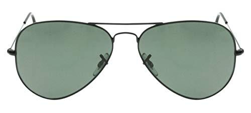 Gafas de sol de Ray-Ban Aviator color plata con cristal rosa marrón de espejo, RB3025 001-3E 55 RB3025 001-3E 55 Schwarz / grün klassische G-15 58 mm