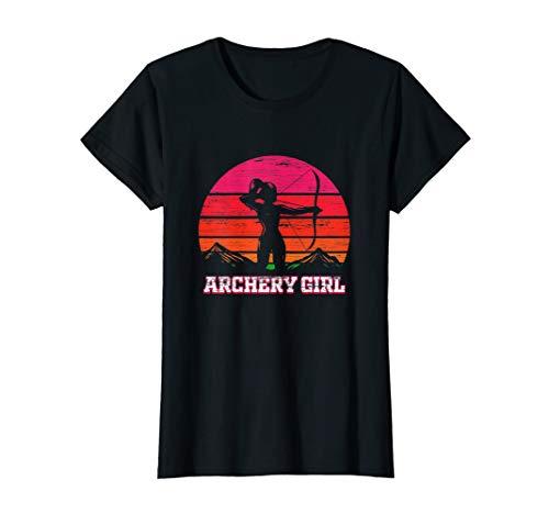 Damen Bogenschützin Geschenk Bogenschießen mit Pfeil und Bogen T-Shirt