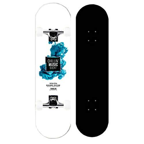 ZWLI Ahorn Longboard Junge Mädchen Pinsel Street Dance Board Anfänger Erwachsene Teen Allrad Skateboard Skateboards Geräuscharm Geschenk für Kinder Jugendliche