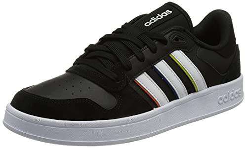 adidas BREAKNET Plus, Zapatillas Deportivas Hombre, NEGBÁS/FTWBLA/AMAACI, 44 EU