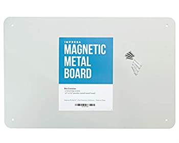 17.5  x 12  Magnetic Board - Great Magnet Bulletin Board to Display Magnetic Poetry Spices Notes Photos and More - Ideal for The Wall Refrigerator Cubicle and More - by Impresa Products