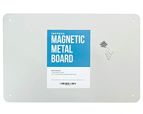"""17.5"""" x 12"""" Magnetic Board - Great Magnet Bulletin Board to Display Magnetic Poetry, Spices, Notes, Photos and More - Ideal for The Wall, Refrigerator, Cubicle and More - by Impresa Products"""