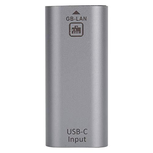 Hembra a Gigabit RJ45 Adaptador de Puerto de Red Aleación de Aluminio Tipo-C Hembra a Gigabit RJ45 Adaptador de Puerto de Red para Windows/Android/OS X