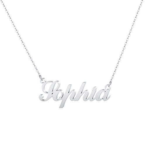 Hidepoo Sophia Name Necklace – Personalized Name Pendant Necklace, Sophia Necklace Chain Jewelry Gifts for Birthday Wedding Mother's Day Thanksgiving Day Valentine's Day Christmas Day