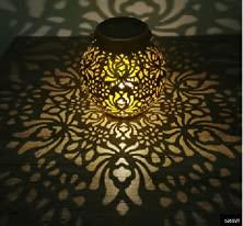Aimiyaelec Lámparas solares para exterior, decoración de jardín, balcón, decoración de jardín, lámpara colgante, luz blanca cálida, IP65, resistente al agua, color negro