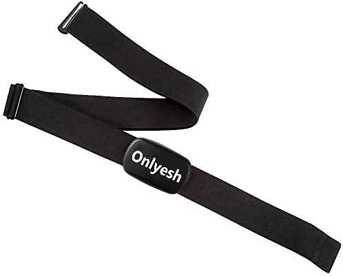 Onlyesh Fascia Cardio con Fascia Toracica Cinture di Seno Bluetooth e Ant+ Compatibile con Garmin e Sunnto
