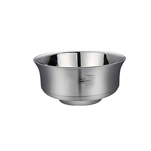 304 Edelstahlschale Haushalts Kinderschale Anti-Fall-Schüssel Reisschüssel Doppelte Isolierschale Suppenschüssel Mit Deckelschale
