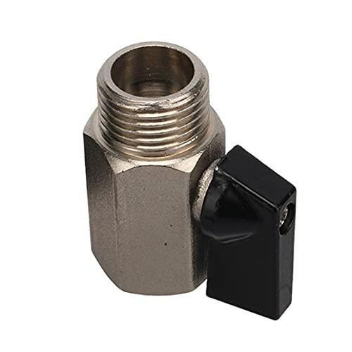 Mini Válvula De Bola, 1/8'1/4' 3/8'1/2' Mini Válvula De Conector De Latón Roscada, Válvulas De Compresor De Aire Masculino A Hembra, Aceite De Gasolina De Gas De Agua (Size : 1/8')
