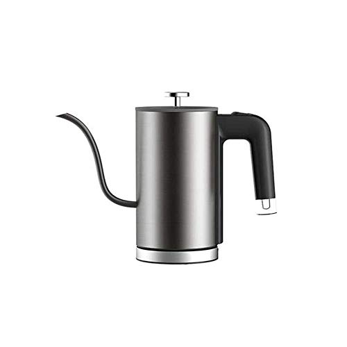 WZMFDC Electric Kettle Tea Coffee Pot Slender Spout Matte Texture Stainless Steel Kettle LED Heating Lamp 600ml dongdong