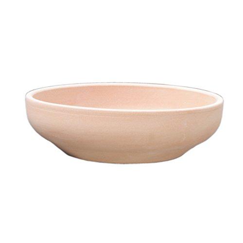 Hentschke Keramik Brunnenschale/Pflanzschale/Wasserschale 100{a02de51f69d3c691e4291839b91b70ea0cc96c37ad16a56181f395e1ce1dae07} wasserdicht Ø 32 x 8 cm, Terracotta, 039.032.53 ohne Bodenloch