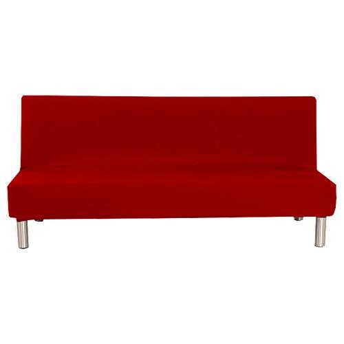 CENPENYA Funda Protectora para sofá Cama sin reposabrazos de poliéster y Elastano, elástica, Plegable, Protector para Futón Couch Bench (Granate,L)