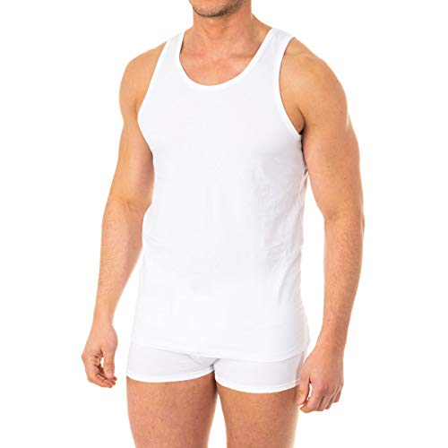 Abanderado ASA040Z, Camiseta X-Temp de tirantes para Hombre, Blanco, Large (Tamaño del fabricante:L/52)