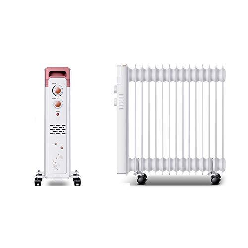 2200 W olie radiator filled, 15 fijn draagbare elektrische verwarming, ingebouwd in 3 warmte-instellingen, thermostaat en veiligheid cut-off. 15Fin