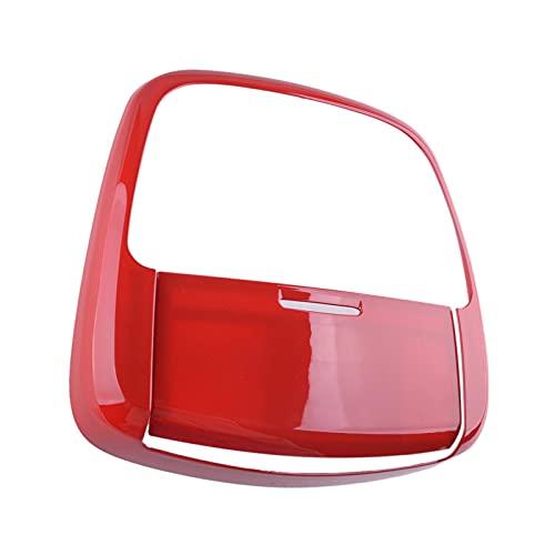 Cubierta De Luz De Lectura De Techo Frontal De Coche ABS Marco De Bisel Embellecedor De Lámpara para Dodge para Cargador para Durango 2014-2019 Interior de automóvil (Color : Rojo)