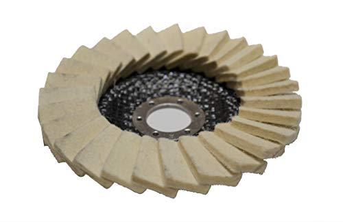 Polierscheibe Filzscheibe Fächerscheiben 125mm Schleifscheibe für Winkelschleifer Filz