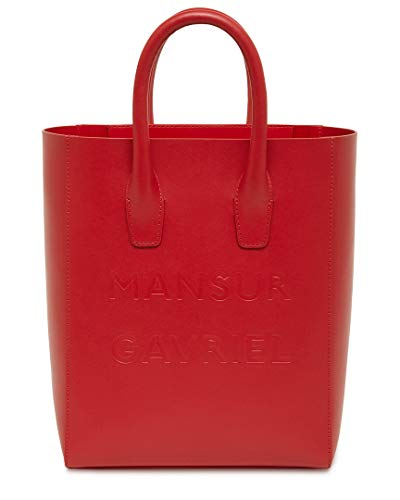 Mansur Gavriel Logo Mini Ns Leather Tote