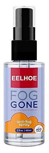 Ashopfun 60ml Anti-Fog Spray Prevents Fogging for Glass Windows Mirrors Glasses- Multifunctional Anti-Fog Liquid for Windshields Rearview Mirrors Windows Bathroom Glasses