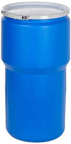 Eagle 1610MB Blue High Density Polyethylene Lab Pack Drum with Metal Lever-lock Lid, 14 gallon Capacity