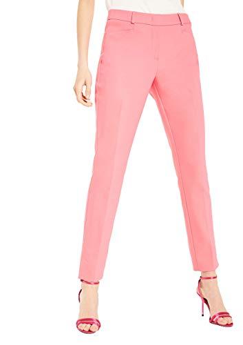 comma Damen Slim Fit: Hose aus Baumwollsatin pink 44.REG