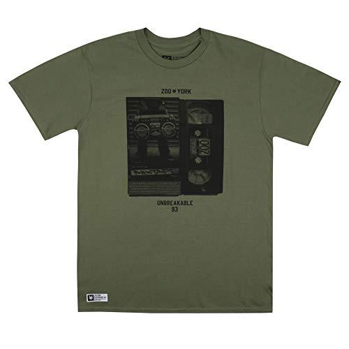 Zoo York Herren Mixtape T-Shirt, Militärgrün, X-Large