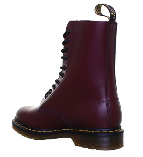 Dr. Martens, 1490 10-Eye Leather Boot for Men and Women, Cherry Red Smooth, 11 US Women/10 US Men