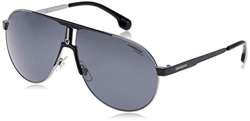 Carrera 1005/S IR TI7 Gafas de sol, Negro (RUTBK MTTBLK/GREY BLUEE), 66 Unisex Adulto