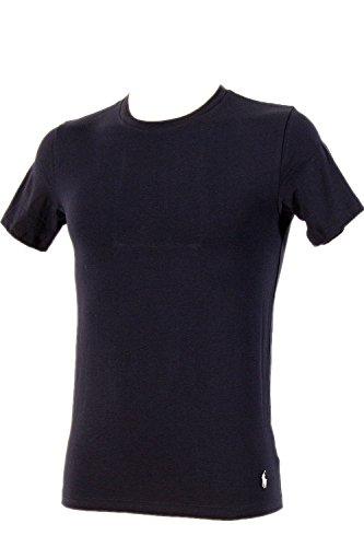 Preisvergleich Produktbild Polo Ralph Lauren 2 Pack Herren Shirts Rundhals gestickter Polo Player am Bund XXL Cruise Navy / RL 2000 (003)