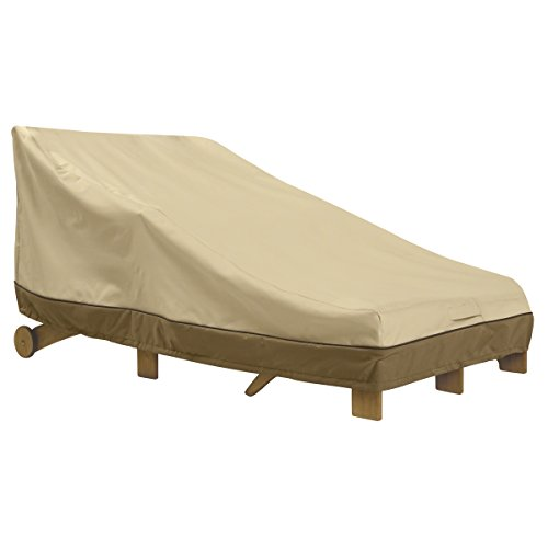 Classic Accessories Veranda Water-Resistant 80 Inch Double Wide Patio Chaise Lounge Cover
