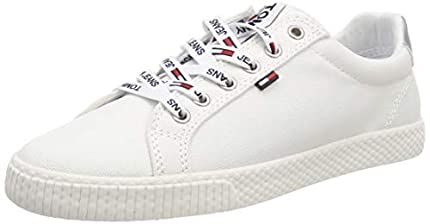 Tommy Hilfiger Tommy Jeans Casual Sneaker, Zapatillas Mujer, Blanco (White 100), 39 EU